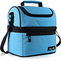 Hap Tim Lunch Box Insulated Lunch Bag Large Cooler Tote Bag for Adult,Men,Women, Double Deck Cooler for Office/Picnic (AE-16040-BL)