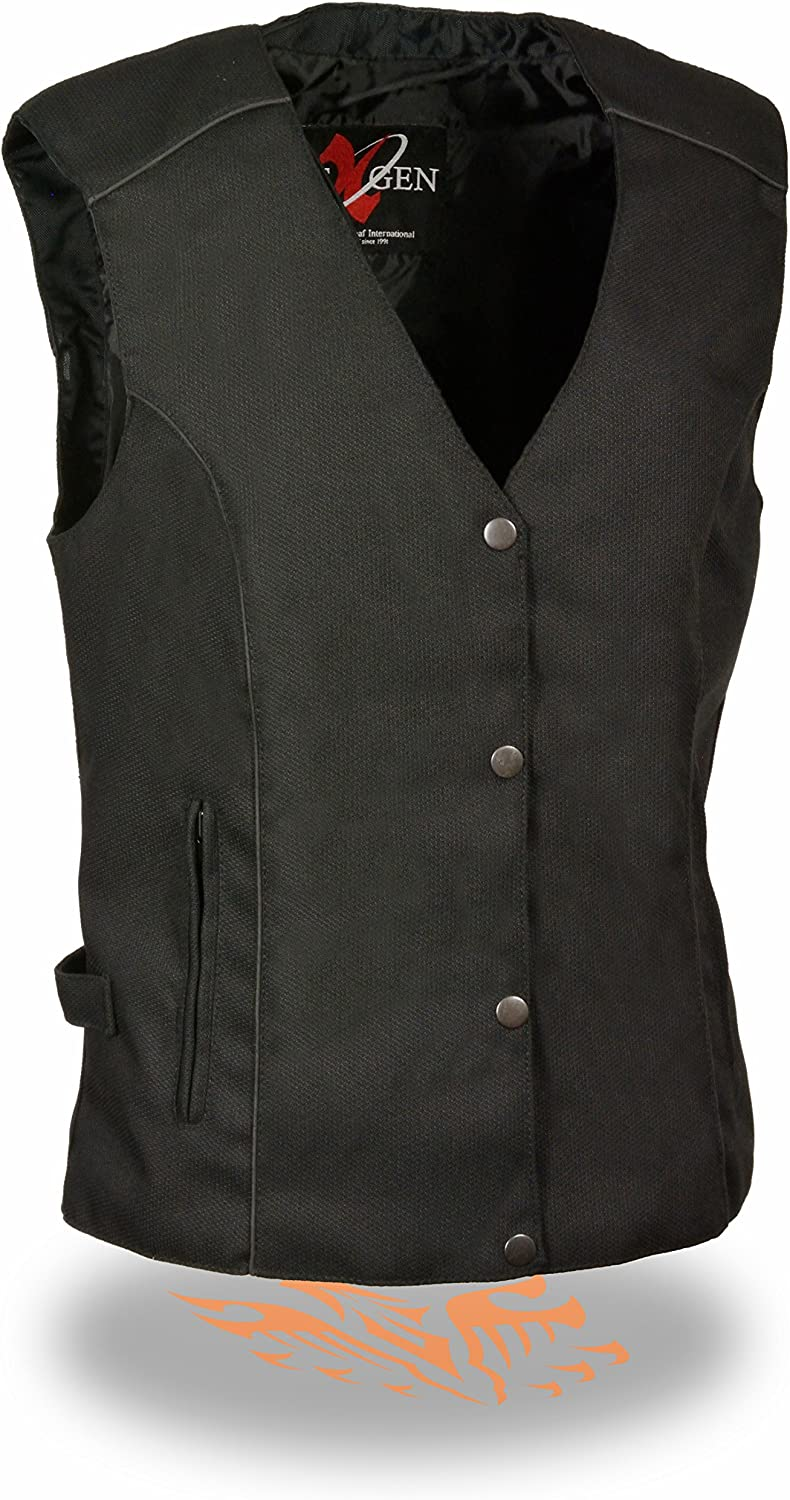 4X-Large Milwaukee Performance SH1955 Ladies Black and Pink Textile Vest with Wing Embroidery