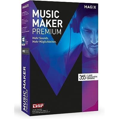 Magix Music Maker Premium 365 - Software de edición de audio/música (9000 MB, 2048 MB, 2000 MHz, - 1280 x 768px, Caja, Alemán)