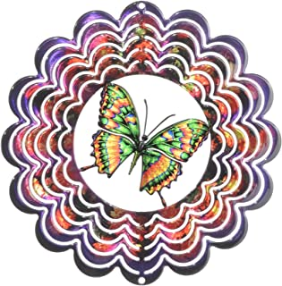 product image for Next Innovations Kaleidescope Butterfly Purple Wind Spinner