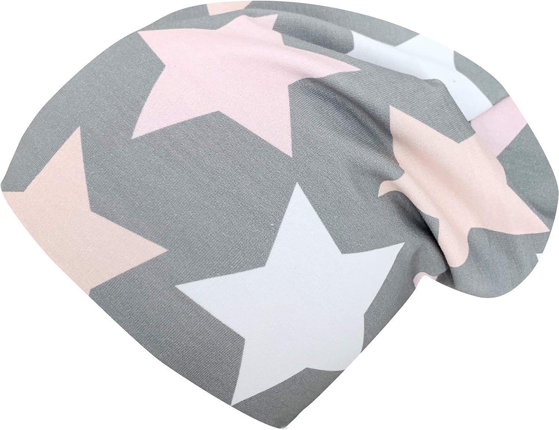 f/ür M/ädchen Wollhuhn /ÖKO Warme Beanie-M/ütze Big Stars grau//rosa//pink MIT Fleecefutter 20171226