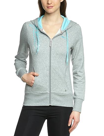 Puma - Sudadera para mujer, tamaño XXL, color gris atlético