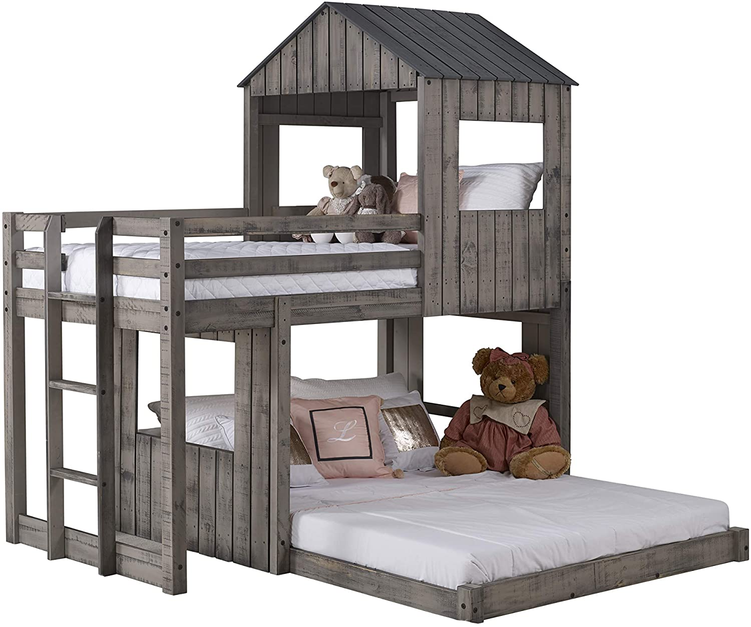 DONCO Twin over Full Campsite Loft Bunk Bed