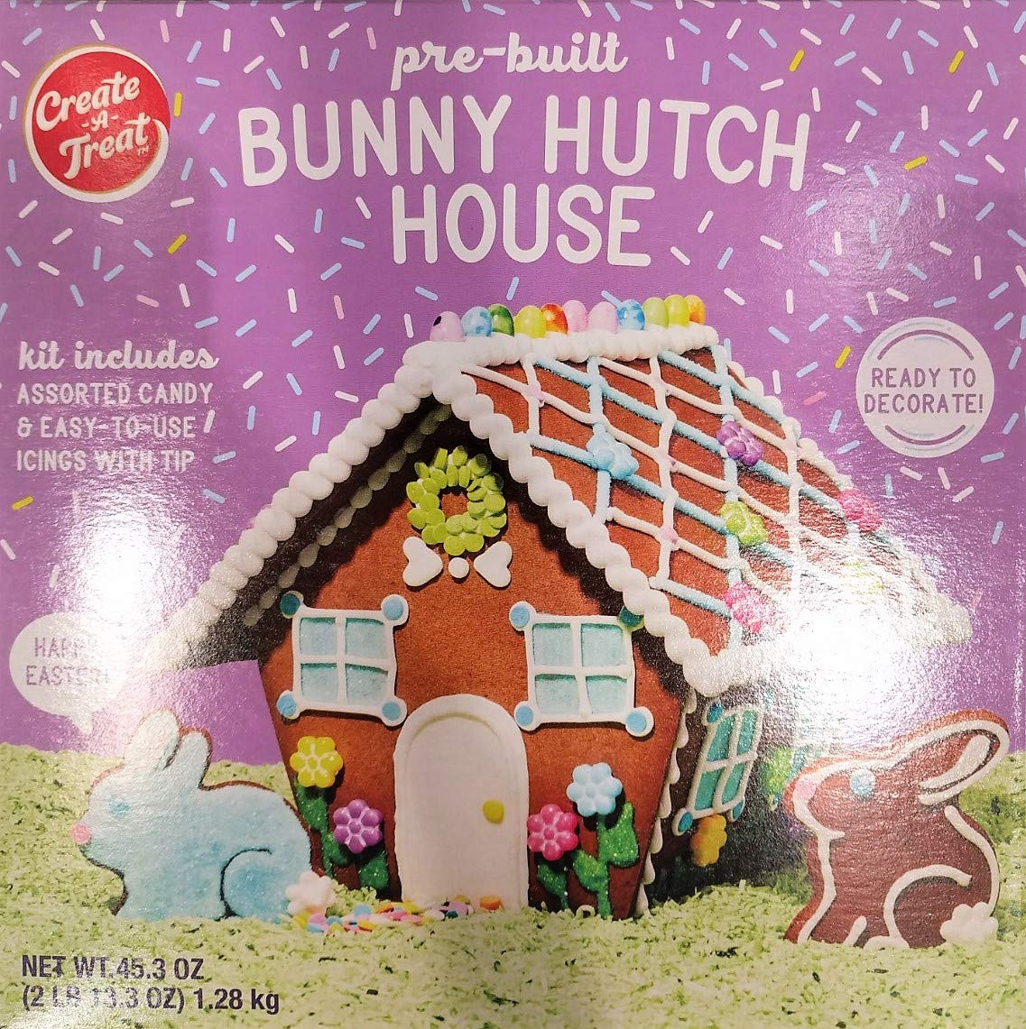 Create a Treat Pre-Built Bunny Hutch House 45 oz - Ready to Decorate
