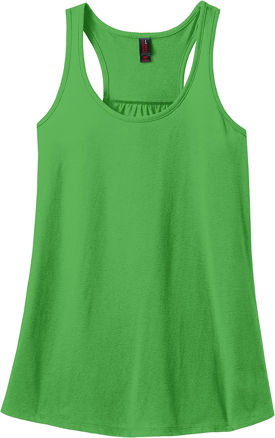 District Made Solid Gathered Racerback Tank (DM420)
