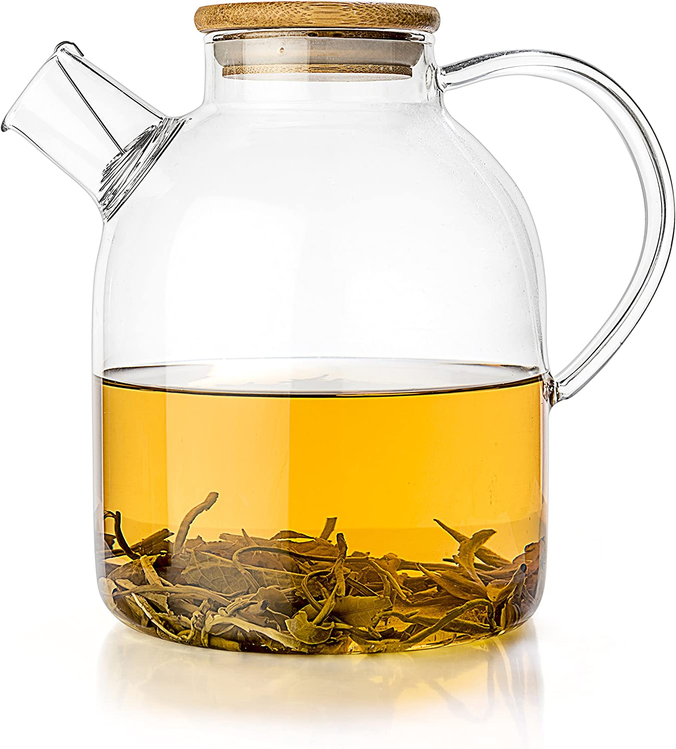 Tealyra – Glass Stove-top Kettle 60-Ounce – Teapot – Heat Resistant Borosilicate – Pitcher – Carafe – No-Dripping – for Tea Juice Water – Hot or Iced – 1800ml