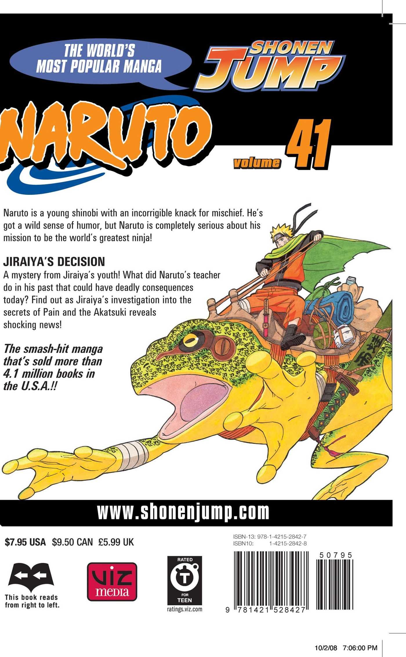 Amazon Naruto Vol 41 Jiraiya S Decision
