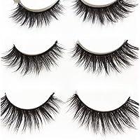 3 Pairs Long Cross False Eyelashes Makeup Natural 3D Fake Thick Black Eye Lashes15