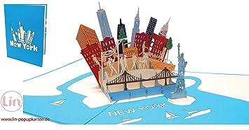 Amerika Karte New York.Lin17604 3d Pop Up Karte Newyork Reisegutschein Pop Up Klappkarte Karten Geburtstag Stadtkarte Geschenkgutschein Städtetrip Grußkarten Geburtstag