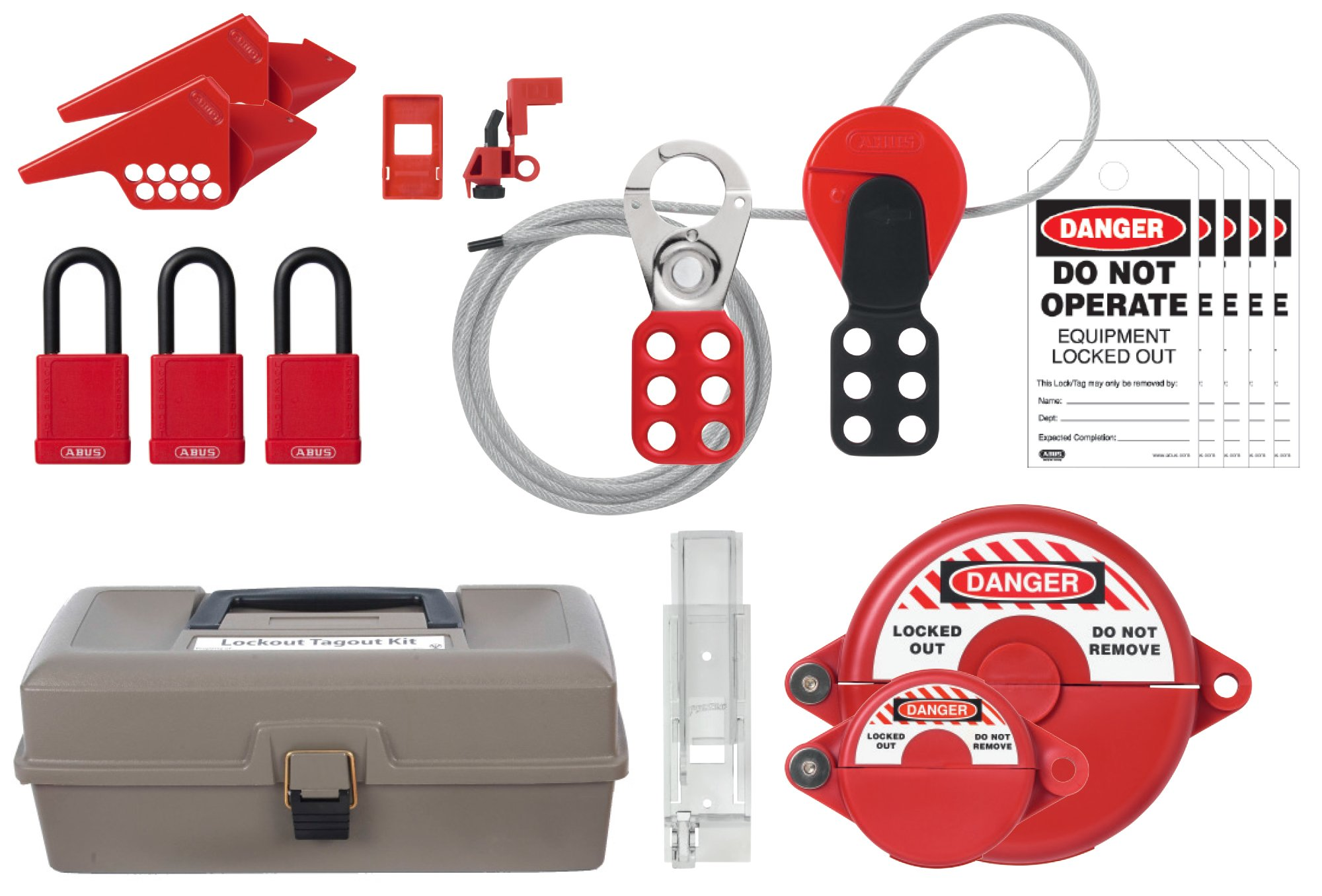 ABUS K930 Safety Lockout Tagout Electrical, Valve Toolbox Kit by ABUS (Image #1)