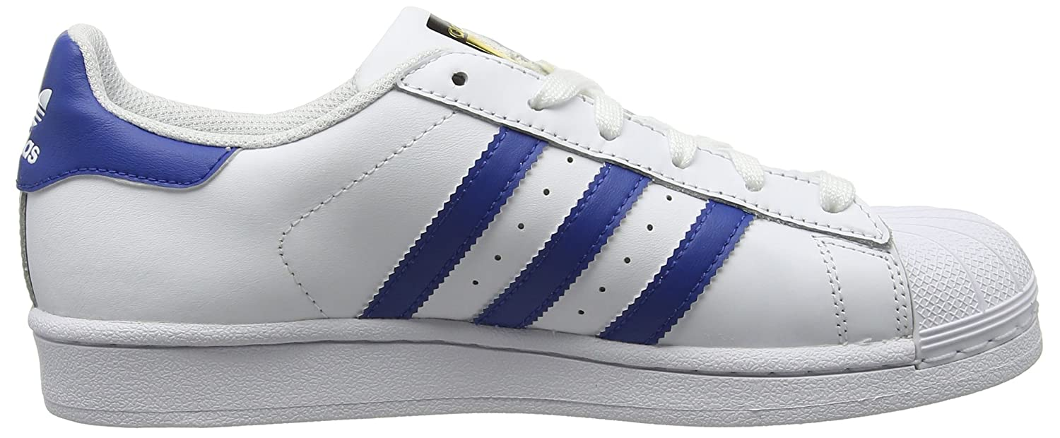 adidas Superstar, Baskets Basses Garçon, Blanc (FTWR White/EQT Blue S16/