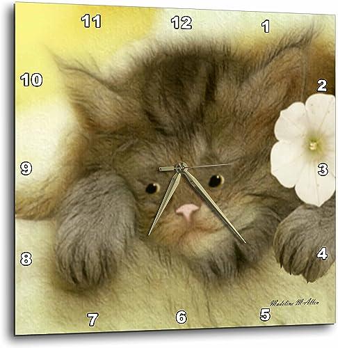 3dRose DPP_15727_1 Wall Clock, Cat H, 10 by 10-Inch
