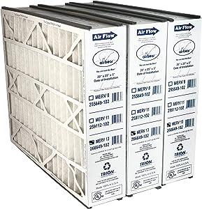 """Trion Air Bear 266649-102 (3-Pack) - 20"""" x 25"""" x 5"""" MERV 13 Pleated Air Filter"""
