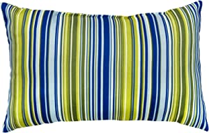 Greendale Home Fashions Rectangle Outdoor Accent Pillows, Lagoon Stripe, Set of 2