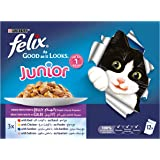 Purina Felix Junior As Good as it Looks Mixed Selection Wet Cat Food Pouch 100g (12 Pouches)