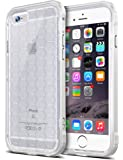 iPhone 6 Case, Ansiwee Original Football Pattern Soft TPU Case + Hard PC Protective Frame with Metallic Luster Hybrid Defender Case, Shock Absorption Flexible Cover for iPhone 6s & 6 (White)