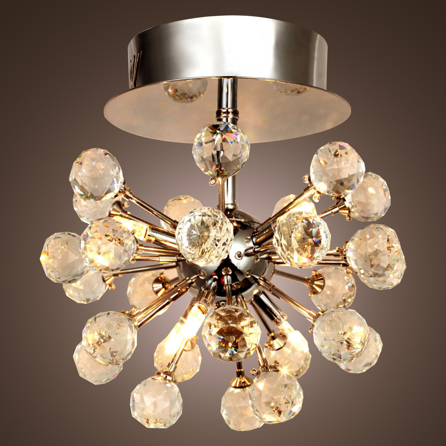 max 10w k9 crystal chandelier with 6 lights in globe shape mini style chandeliers modern ceiling light fixture for hallway bedroom