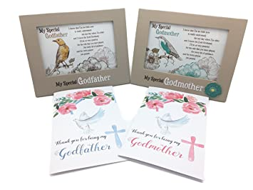 picture frame for godparent from godchild godfather and godmother gifts great gifts with thank you cards