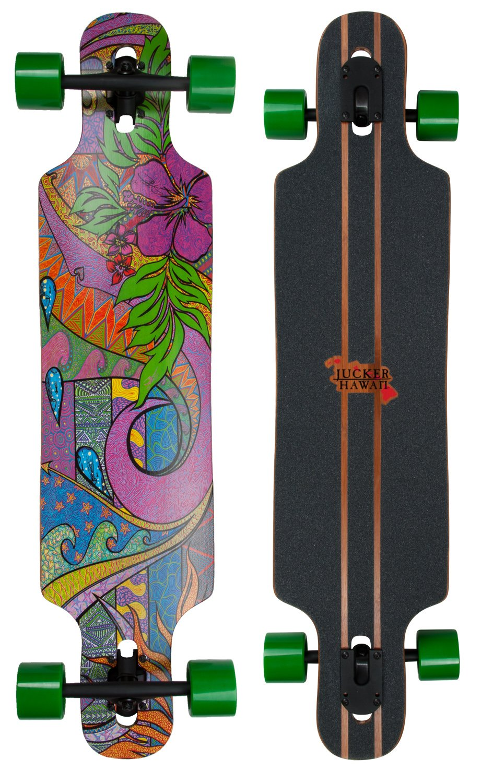 JUCKER HAWAII Longboard Skateboard WAILANI Bamboo Drop Through