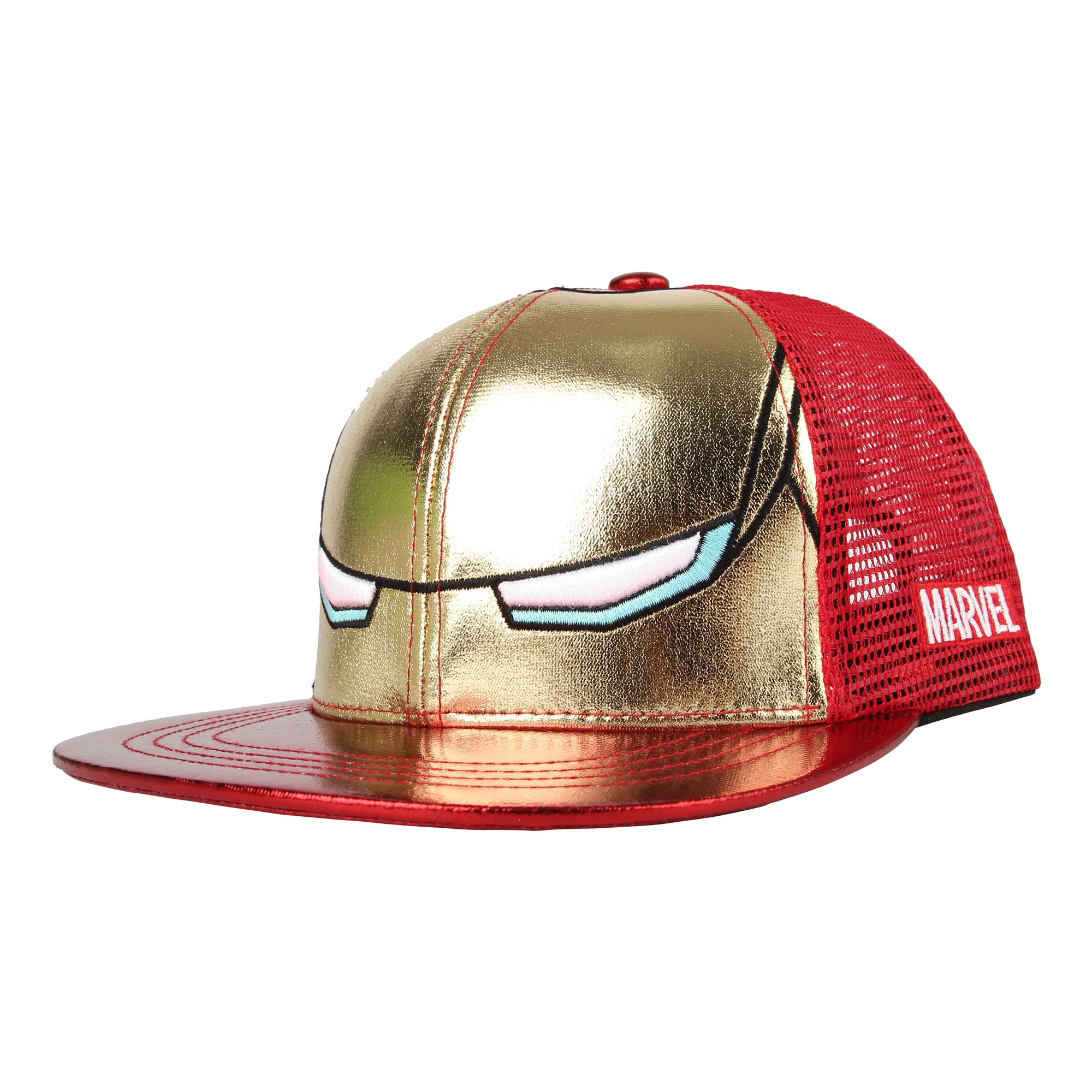 WITHMOONS Marvel Avengers Iron Man Snapback Hat Mesh Cap Boys DWI1056 (Red)