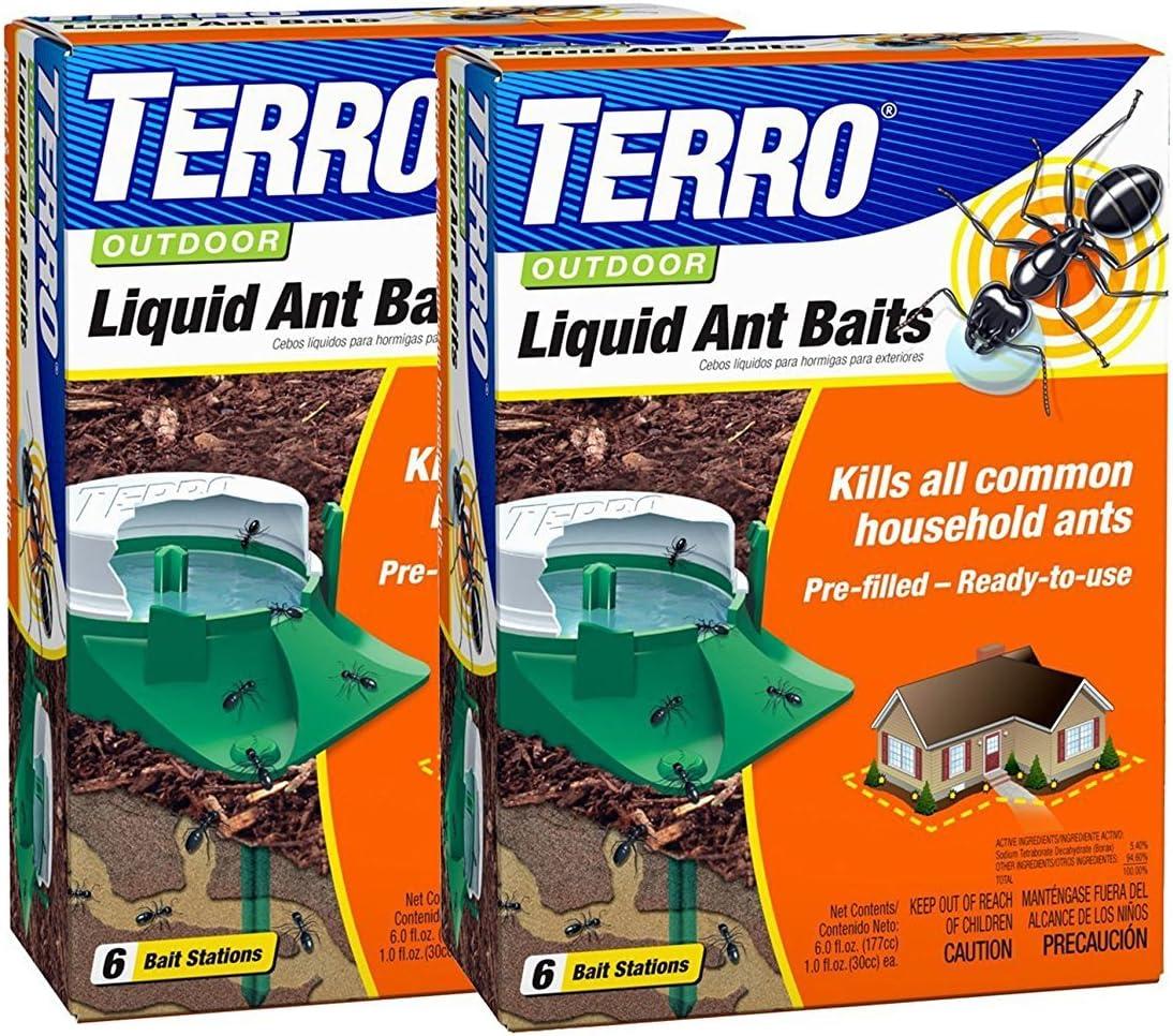 Amazon Com Terro Outdoor Liquid Ant Baits 6 Bait Stations Pack