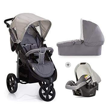 Hauck Viper SLX Trio Set Travel System, From Birth To 15 Kg, Grey (