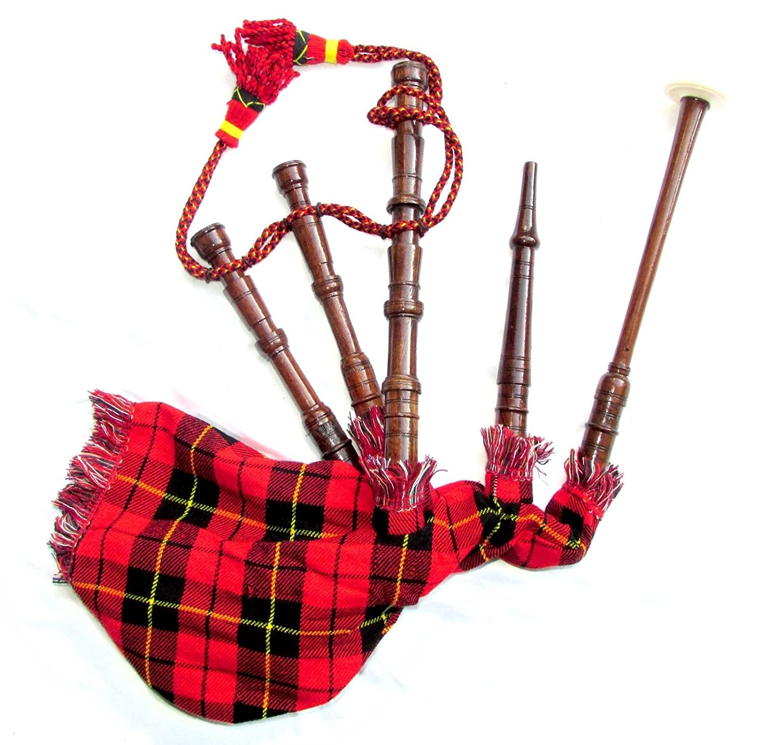 scottish junior playable bagpipes kids toy miniature tartan bag