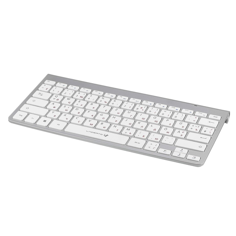 OFFICE-DR550 Lacerto/® Tastatur ukrainische russische Russisch-Deutsche Multimedia-Tastatur
