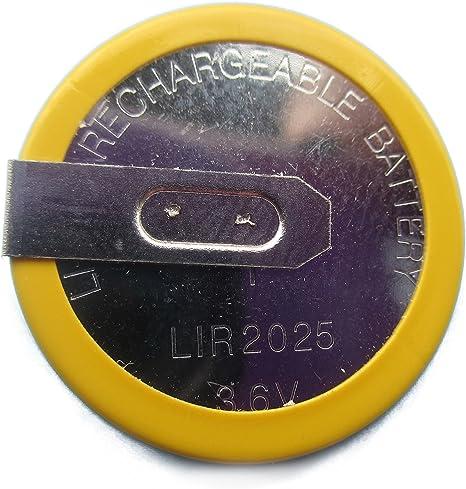 Inion Bmwrk07 1x Batterie Akku Lir2025 Ersetzt Vl2020 Lithium Ionen Akku Wiederaufladbar Für Schlüsselgehäuse Autoschlüssel Fernbedienung Fürbmw Rk07 Auto