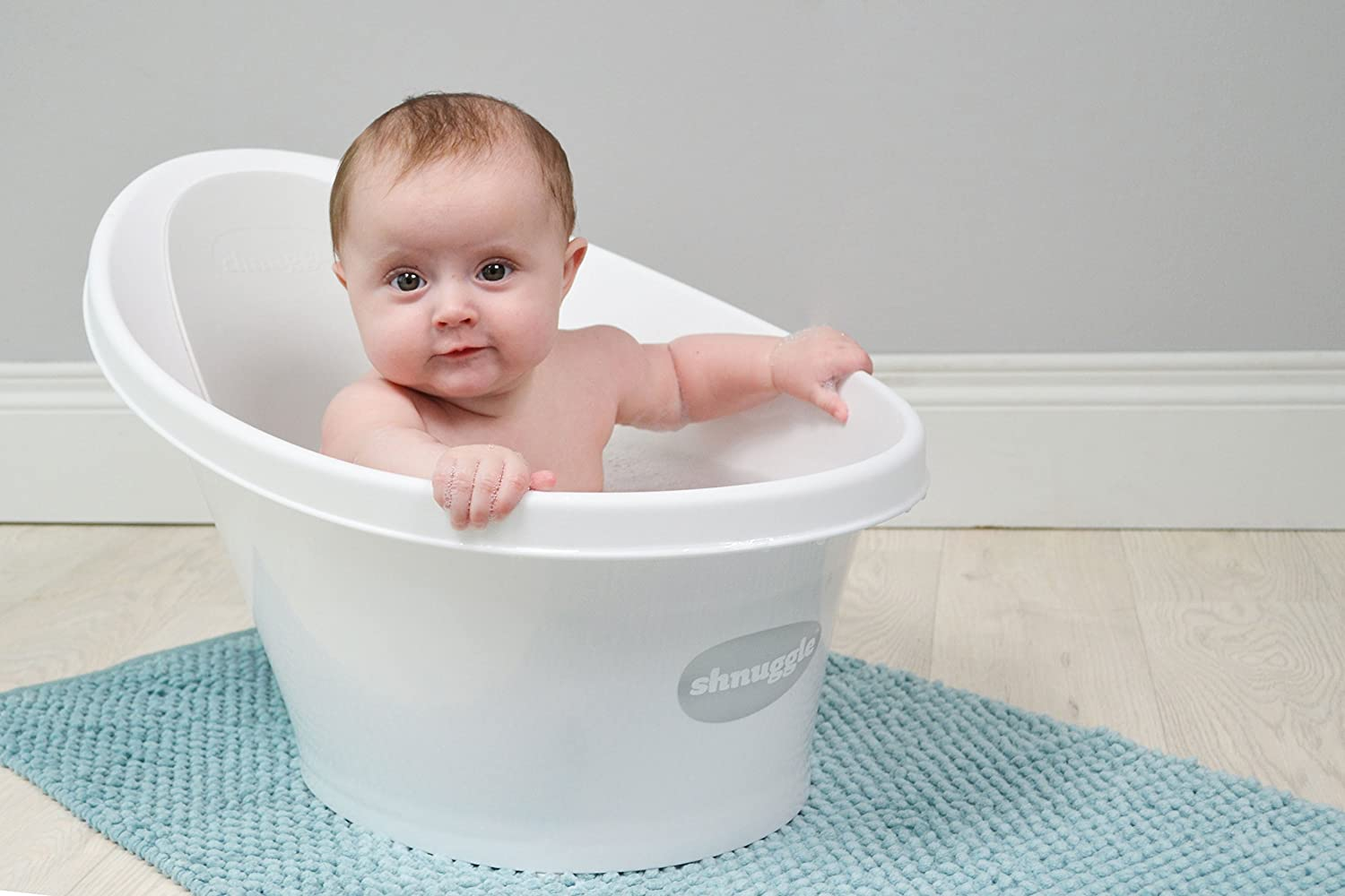 Amazon.com : Shnuggle Baby Bath Tub - Compact Support Seat, Makes ...