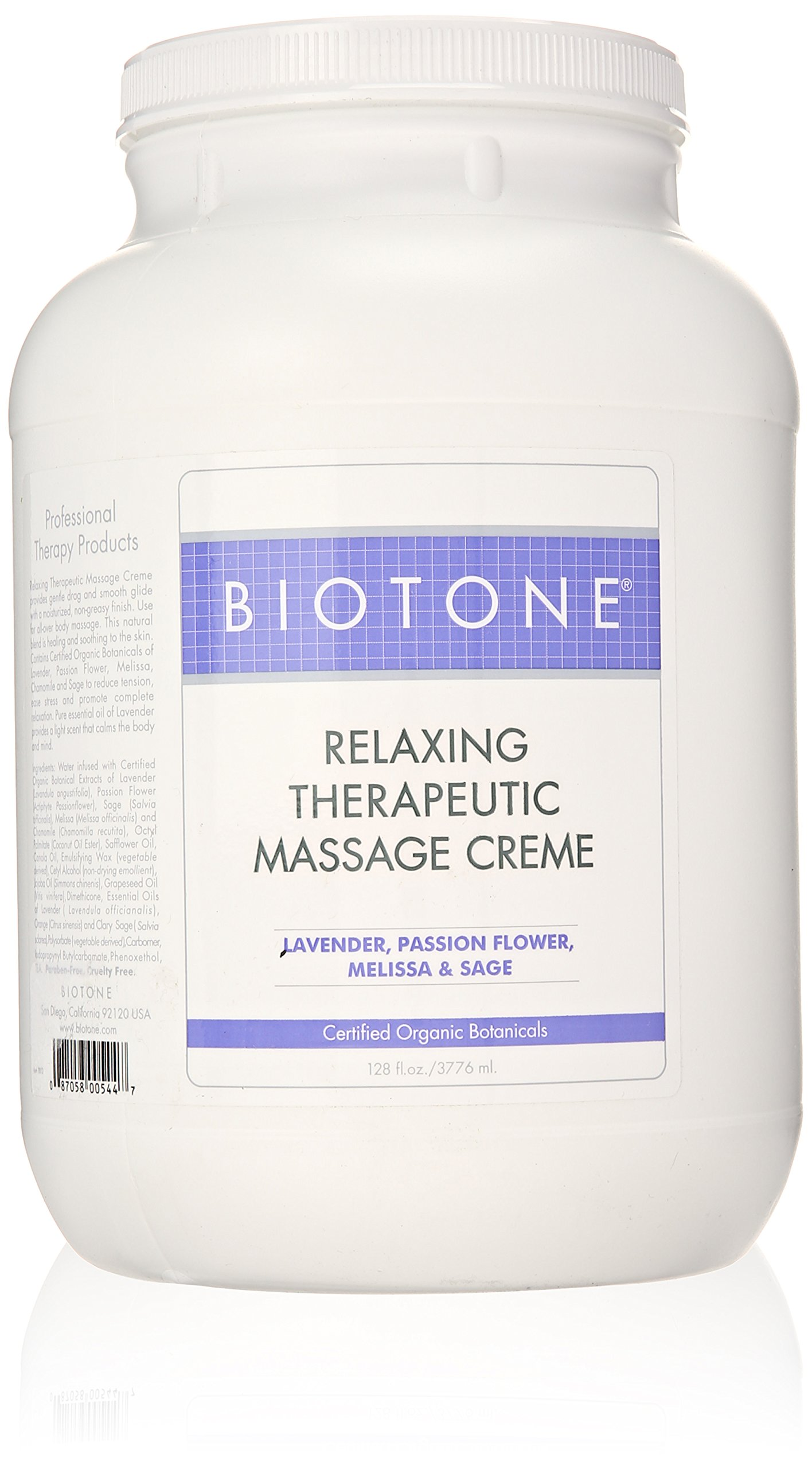 Biotone Relaxing Therapeutic Massage Cream, 1 Gallon (128 Ounce) by Biotone