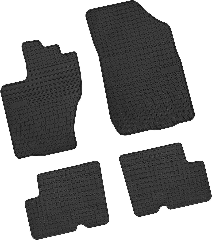 Bär Afc Da09901 Gummimatten Auto Fußmatten Schwarz Erhöhter Rand Set 4 Teilig Passgenau Für Modell Siehe Details Auto