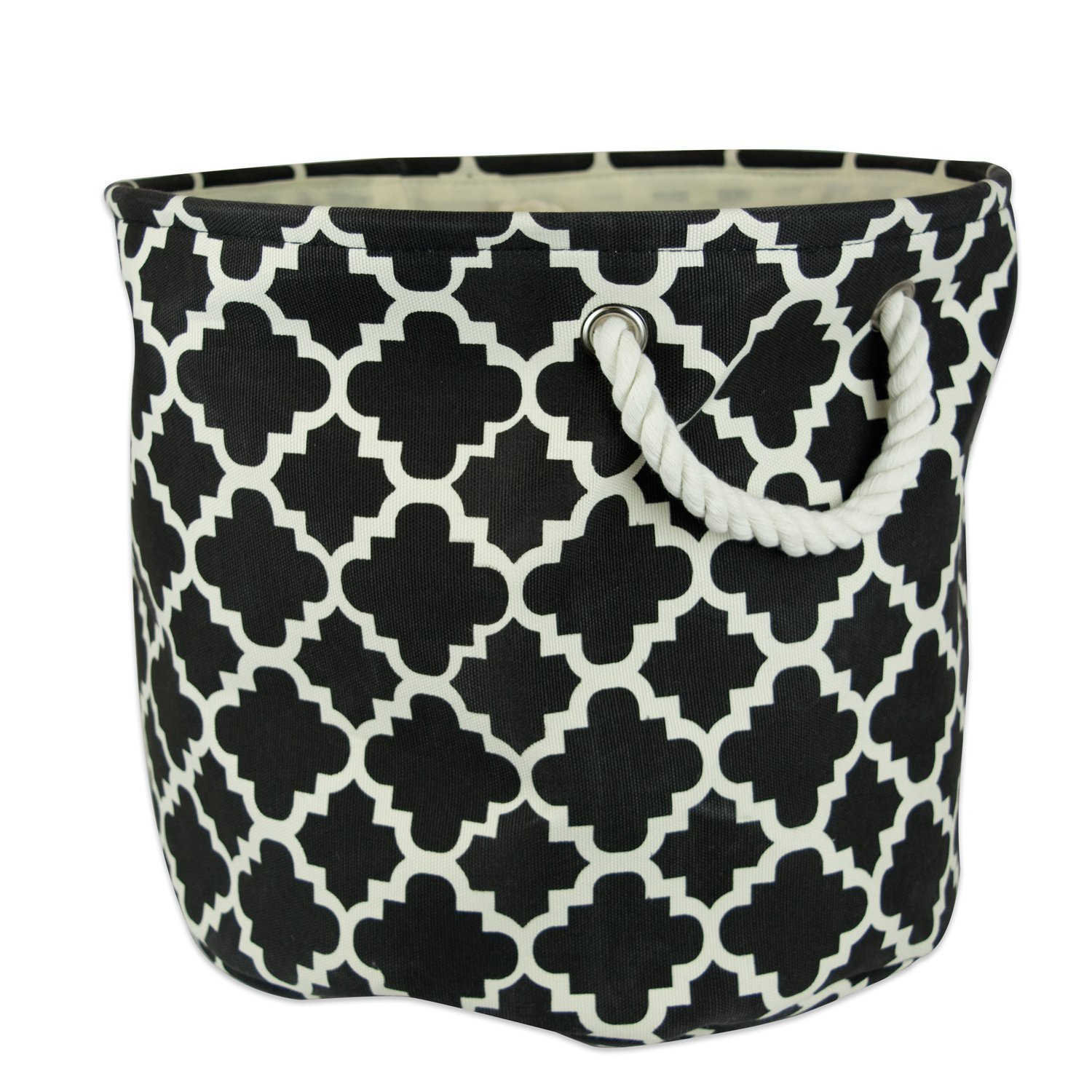 DII Printed Polyester, Collapsible and Convenient Storage Bin To Organize Office, Bedroom, Closet, Kid's Toys, Laundry - Small Rectangle, Black Lattice Kid' s Toys CAMZ36069