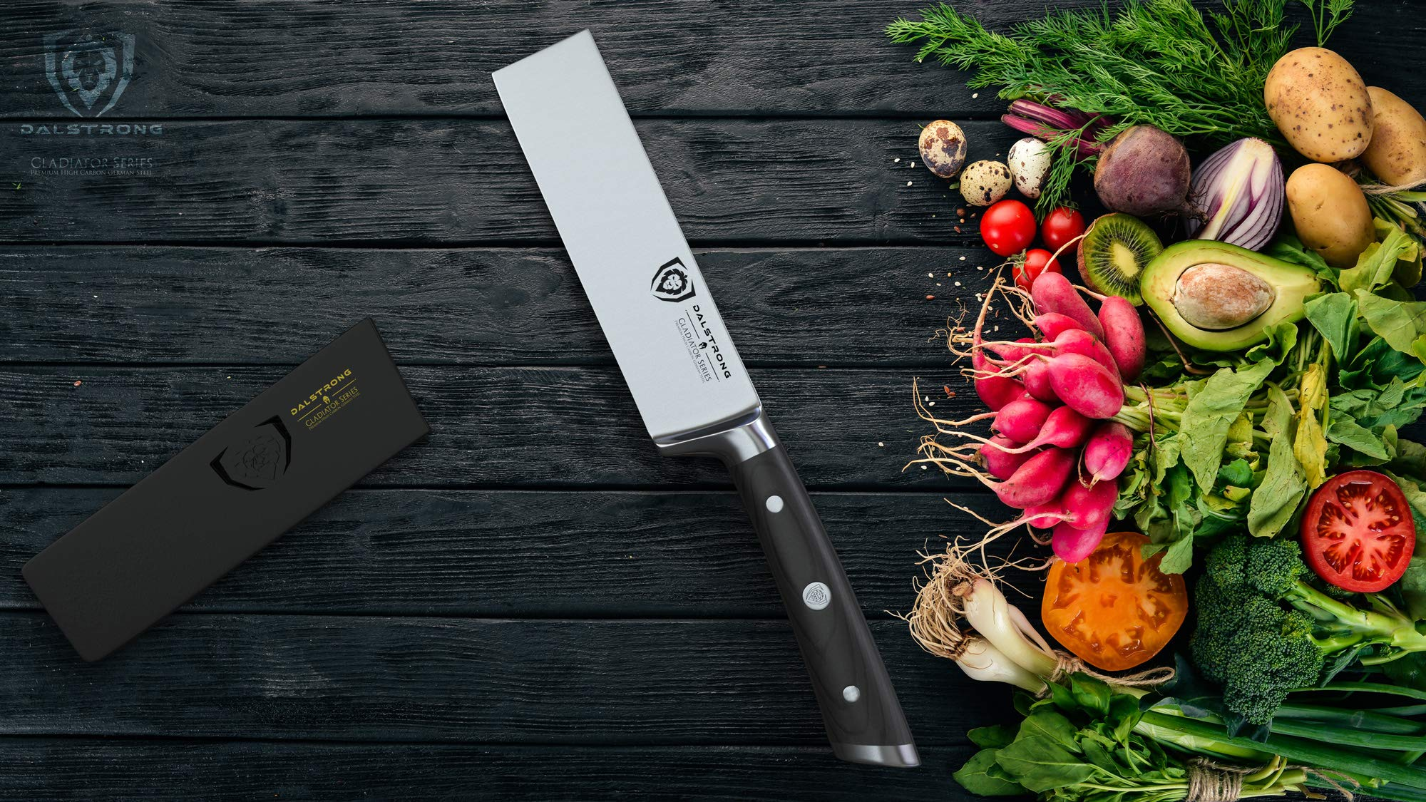 DALSTRONG Produce Knife - Gladiator Series - German HC Steel - 6'' -w/Sheath by Dalstrong (Image #3)