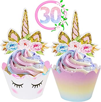 Astounding Ecozen Lifestyle Unicorn Cupcake Toppers And Wrappers Decorations Birthday Cards Printable Riciscafe Filternl