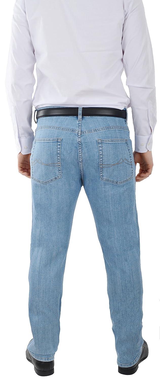 d8c516ebdf4eb F2 Herren Jeans Hose Straight Leg gerader Schnitt Blue Petrol ...