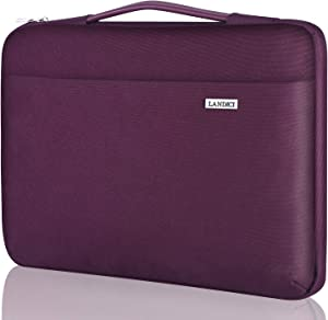 "Landici Laptop Case Sleeve 11 11.6 12 Inch with Handle,360°Protective Waterproof Computer Cover Bag Compatible with MacBook Air 11,Surface Pro 7/6,Acer Hp ASUS Chromebook,12.5"" Tablet-Purple"
