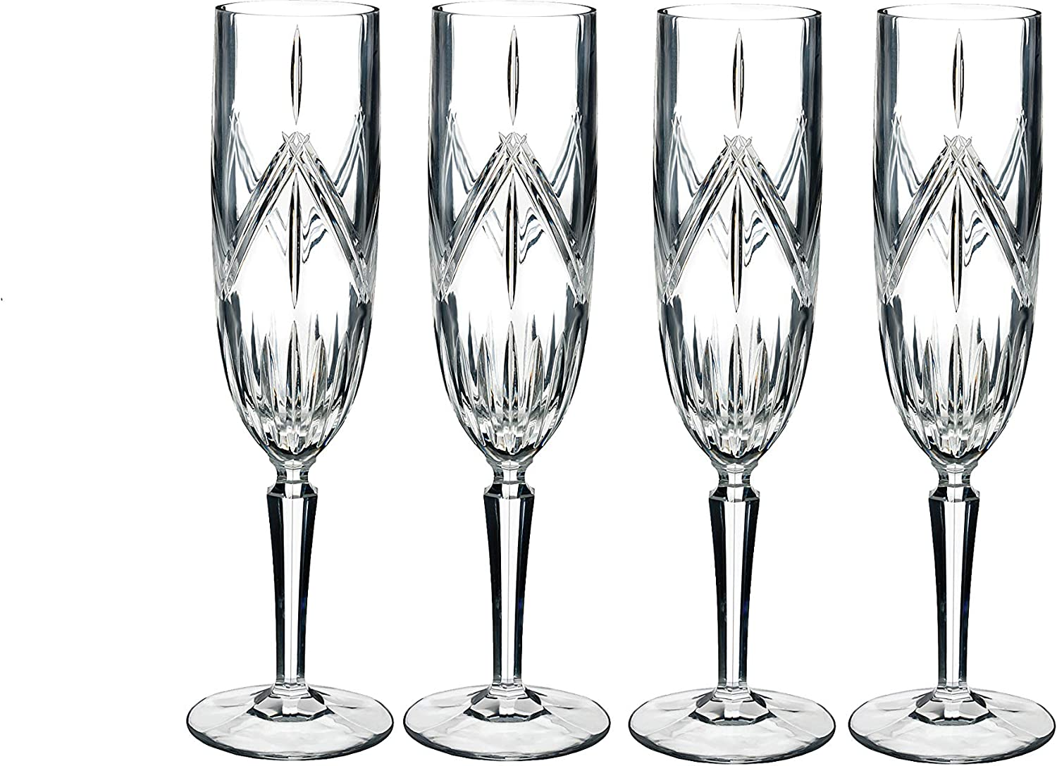 Marquis By Waterford Lacey Flute Set of 4, 8 ounce, Clear