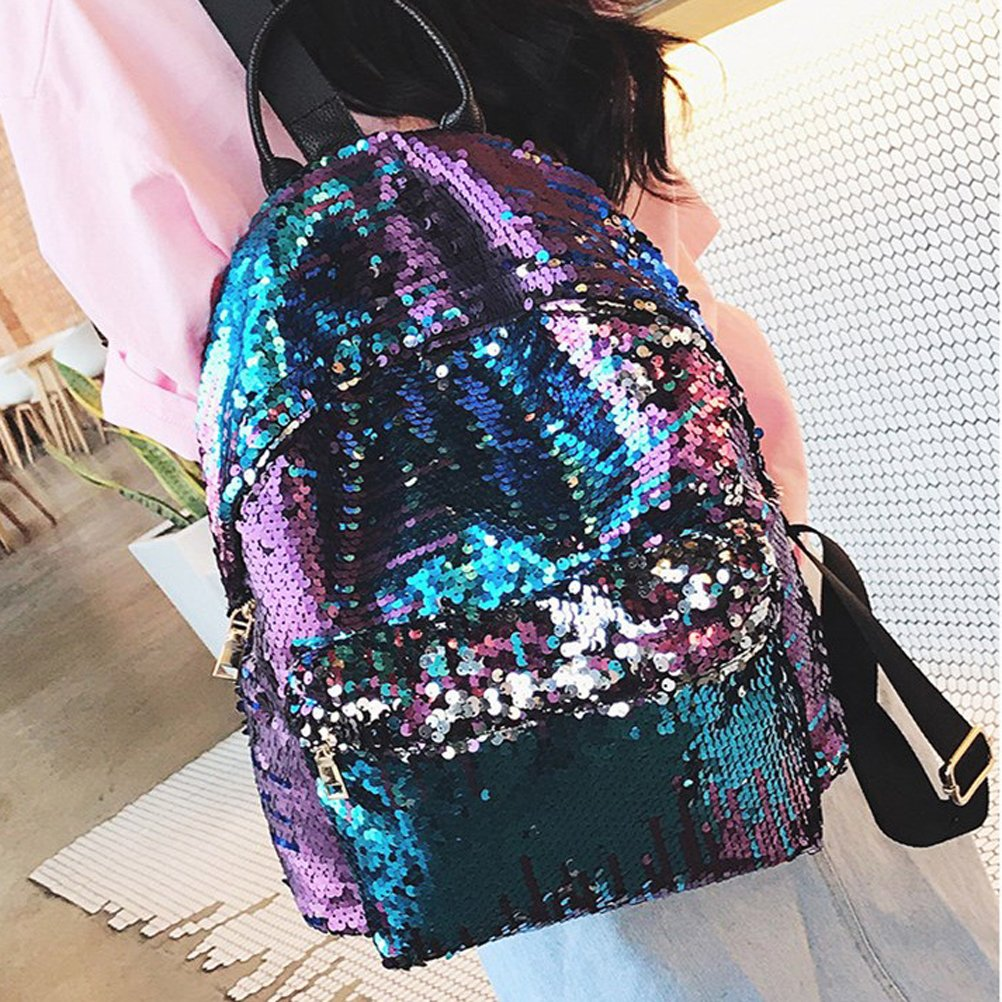 Amazon.com: BESTOYARD Sequin Backpack Fashion Shiny Bling Glitter Sequins Backpack Casual Outdoor Sport Hiking Daypack for Girls Women (Blue): Toys & Games