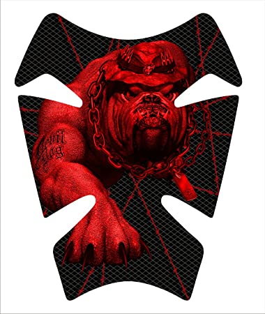 Amazon.com: Marines Devil perro rojo Gel Gas Tankpad ...