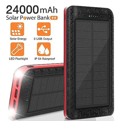Amazon.com: Cargador solar de 24000 mAh, cargador de ...