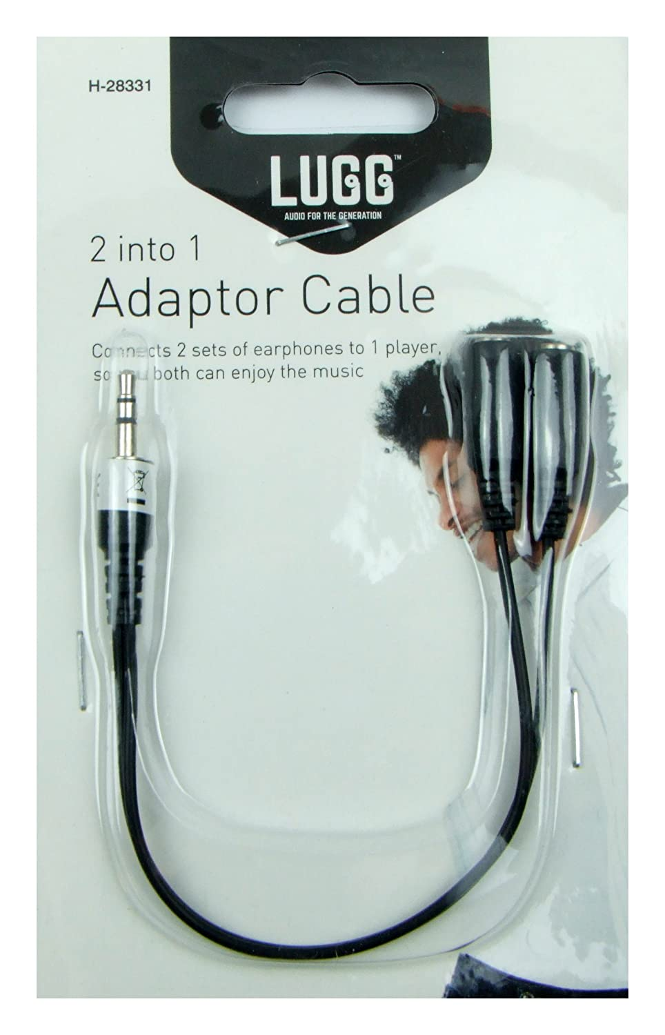 LUGG Audio 2 in 1 Adapter Cable Connect 2 Sets Of: Amazon co