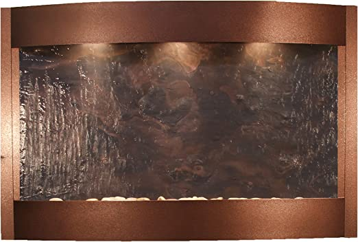 Antique Bronze Calming Waters Water Feature with Multi-color FeatherStone