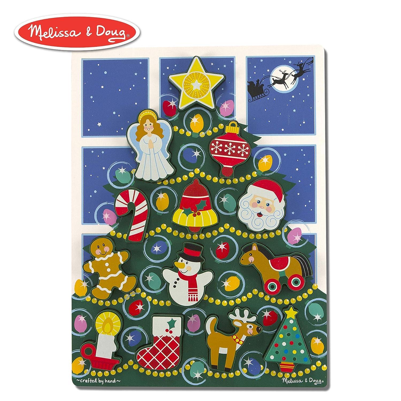 Doug Christmas Story Vhs.Melissa Doug Holiday Christmas Tree Wooden Chunky Puzzle 13 Pcs