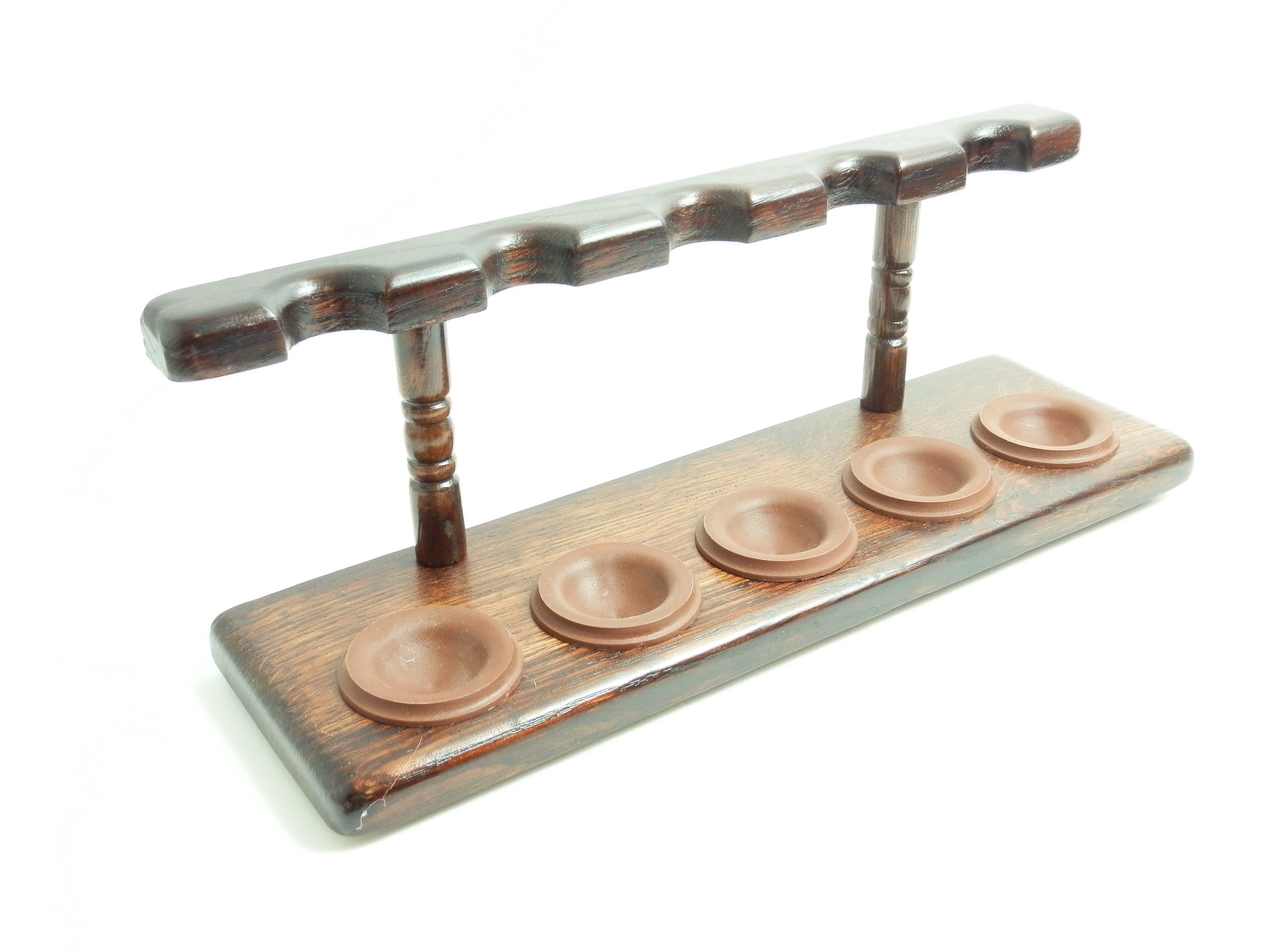 Tobacco Pipe Stand - 5 Pipe Stand - Polish Import