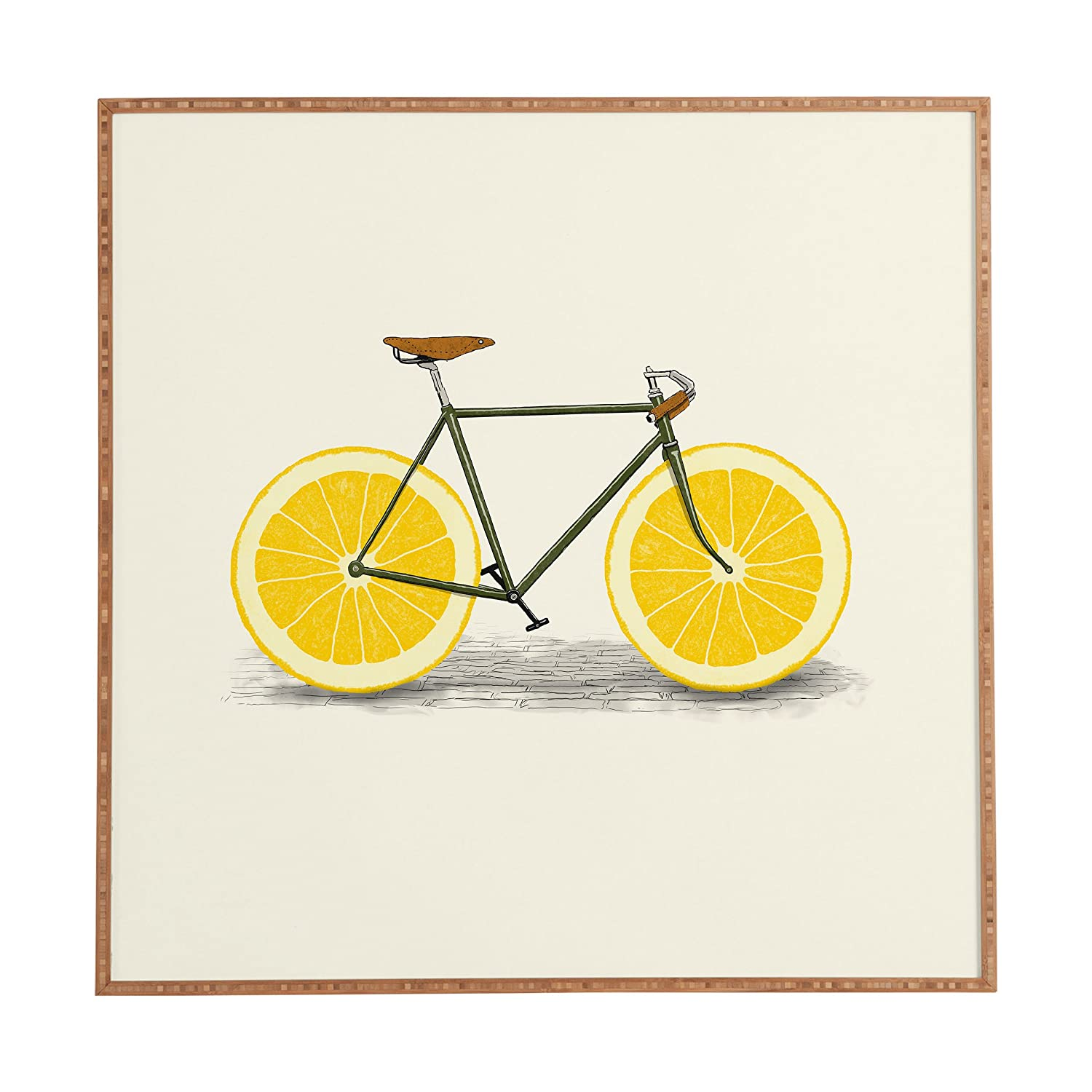 "Deny Designs Florent Bodart, Zest I, Framed Wall Art, Small, 12""x 12"""
