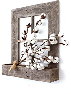 BarnwoodUSA Rustic Window Planter Frame - 100% Reclaimed Wood, Weathered Gray