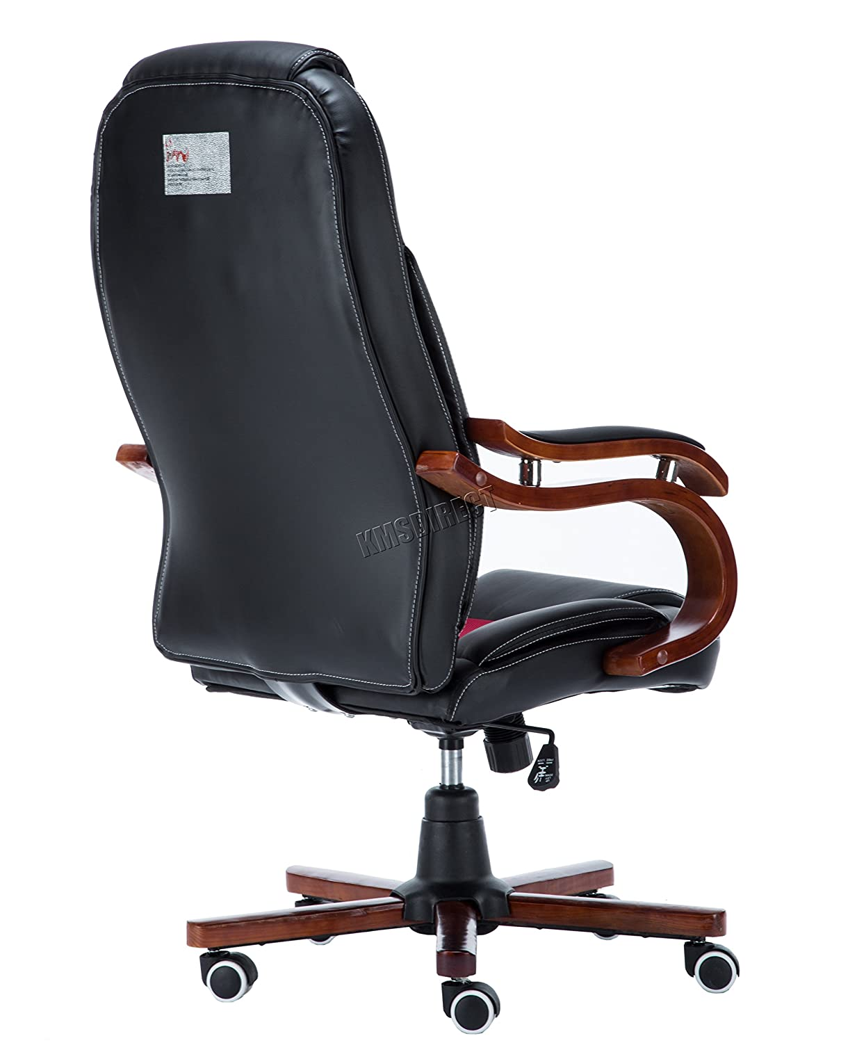 Office chair for sale jhb - Foxhunter Computer Executive Office Desk Chair Faux Leather Swivel Furniture High Back Wood Armrest Adjustable Oc02 Black Amazon Co Uk Kitchen Home