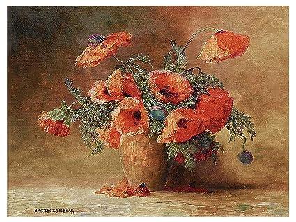 Still life un vaso con fiori di papaveri di max theodore