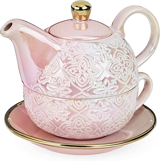 Amazon Com Pinky Up Addison Marrakesh Tea For One Set Size Pink Tea Sets